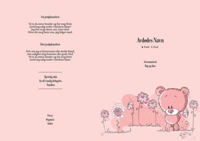 4077 Bamse rosa liten