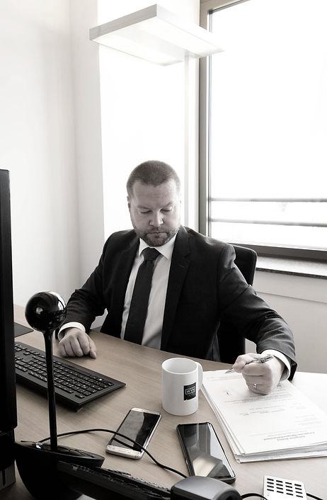 Anwalt bei der Arbeit