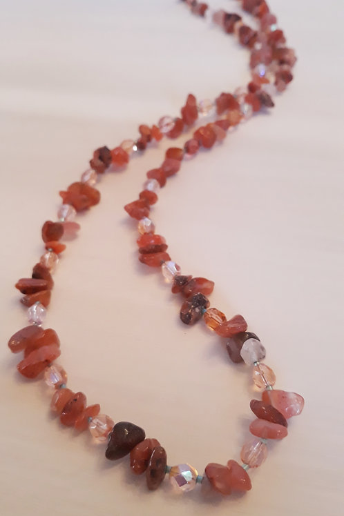 """""""Heart Flame"""" Beaded Necklace"""