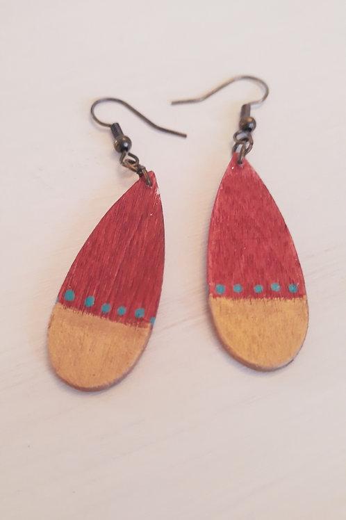 """""""Oasis"""" Wooden Earrings"""