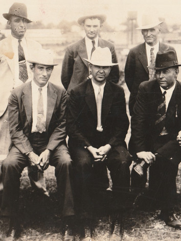 Former Texas Ranger Frank Hamer and the posse that ended the lives of the notorious Bonnie & Clyde