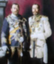 Tsar Nicolas and George V in uniform