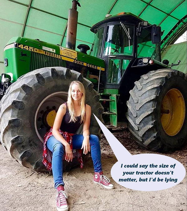 tractor girl size matters.JPG