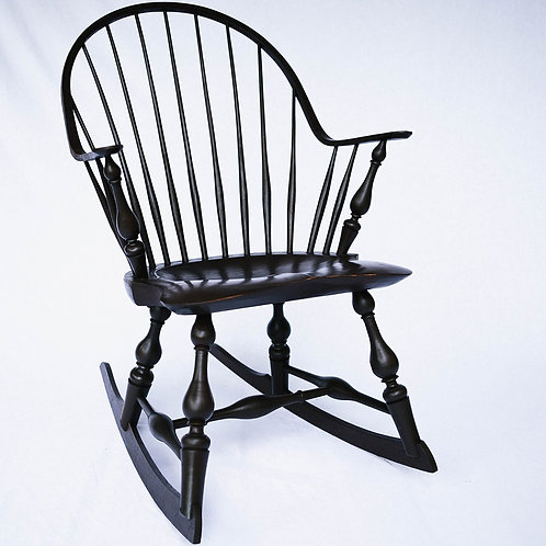 Continuous-arm Windsor Rocking Chair