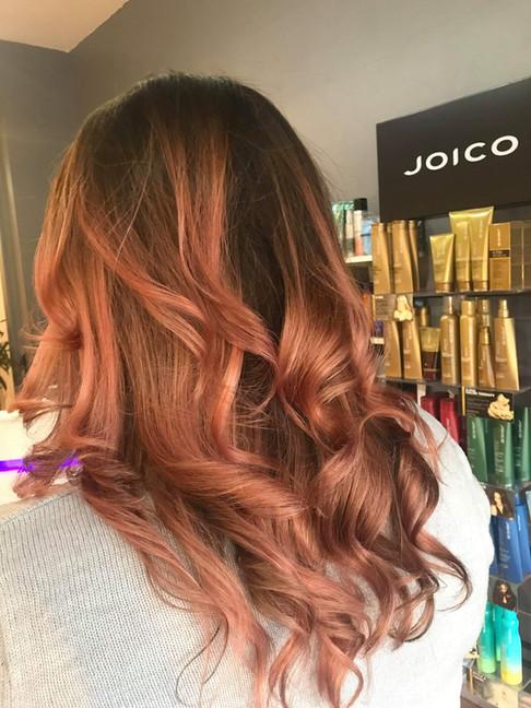 Rose Gold Balayage   Hairdressers Cambridge