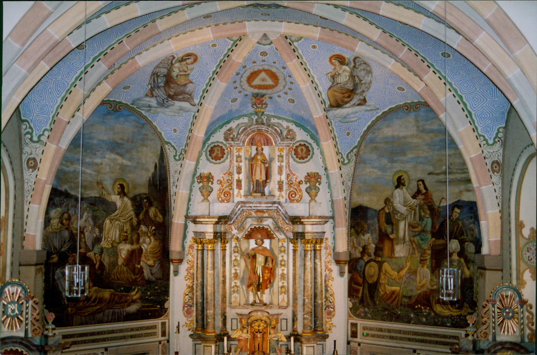 Mural behind the altar