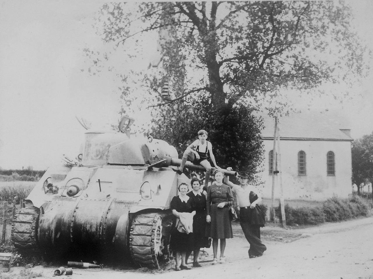 Sherman Tank outside St. Mauritius