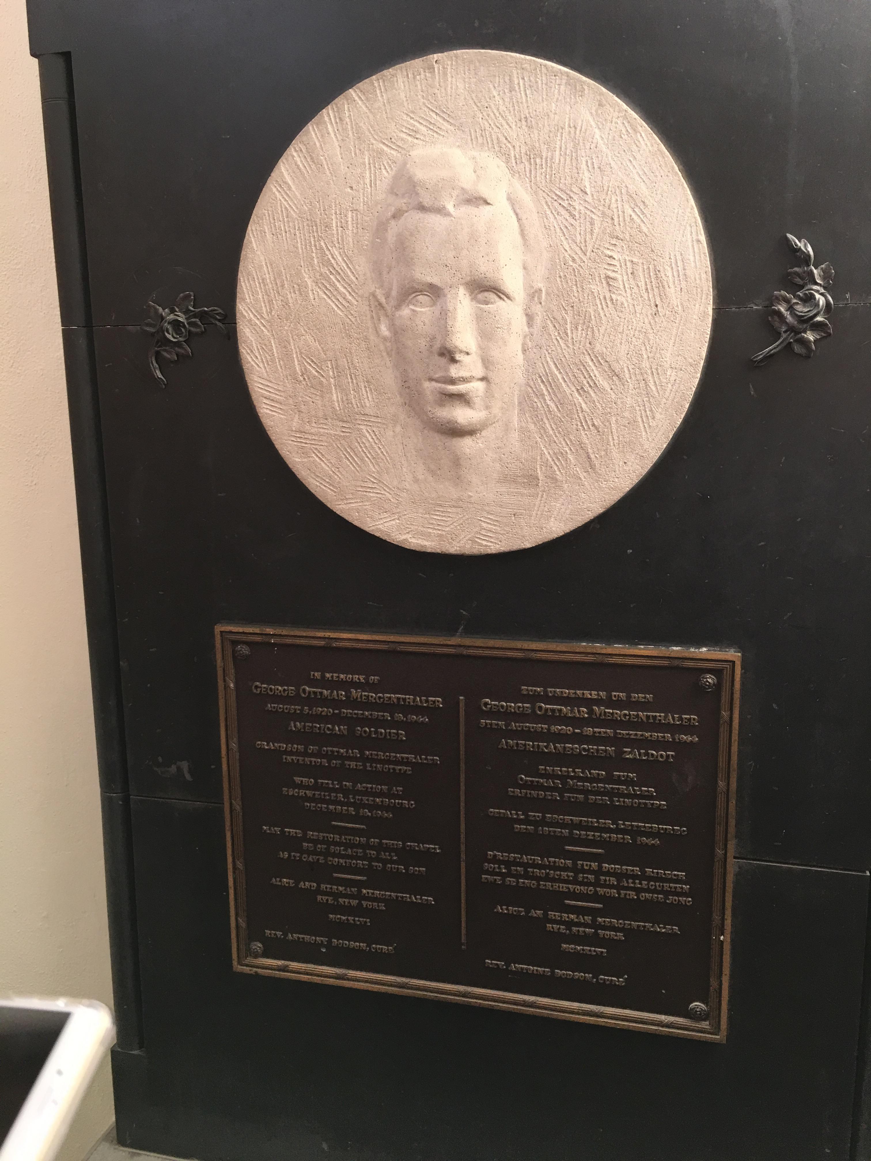 George Mergenthaler plaster disk