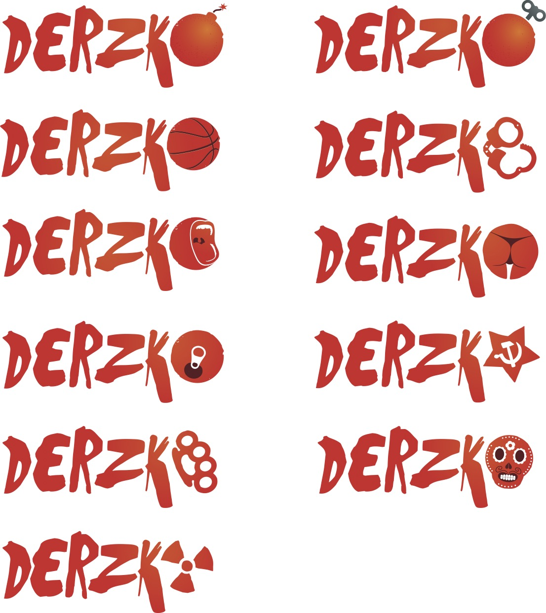 Серия логотипов для DERZKO