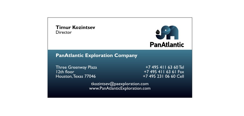 PanAtlantic business card