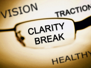 CLARITY BREAKS - MAKE THEM YOUR NEW YEARS RESOLUTION