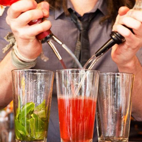 1/2pcs Stainless Steel Wine Olive Oil Pourer Dispenser Spout Glass Bottle Pourer