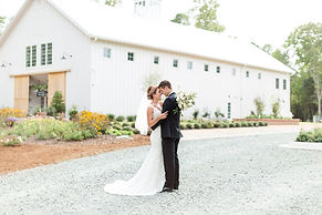 Southern bride and groom wedding featue