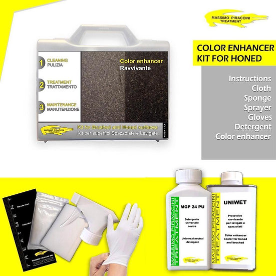 COLOUR ENHANCER KIT FOR BRUSHED AND HONED SURFACES
