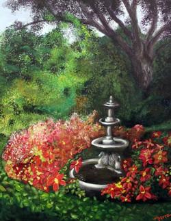 Tea Garden Fountain in Fall