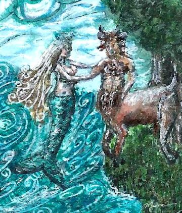 Satyr & Mermaid in Love
