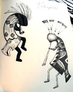 Kokopelli Sketches