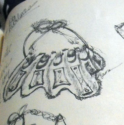 Sketch for Mixed Media Bib Necklace