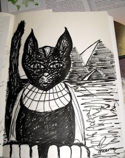 Cleocatra as Sphinx