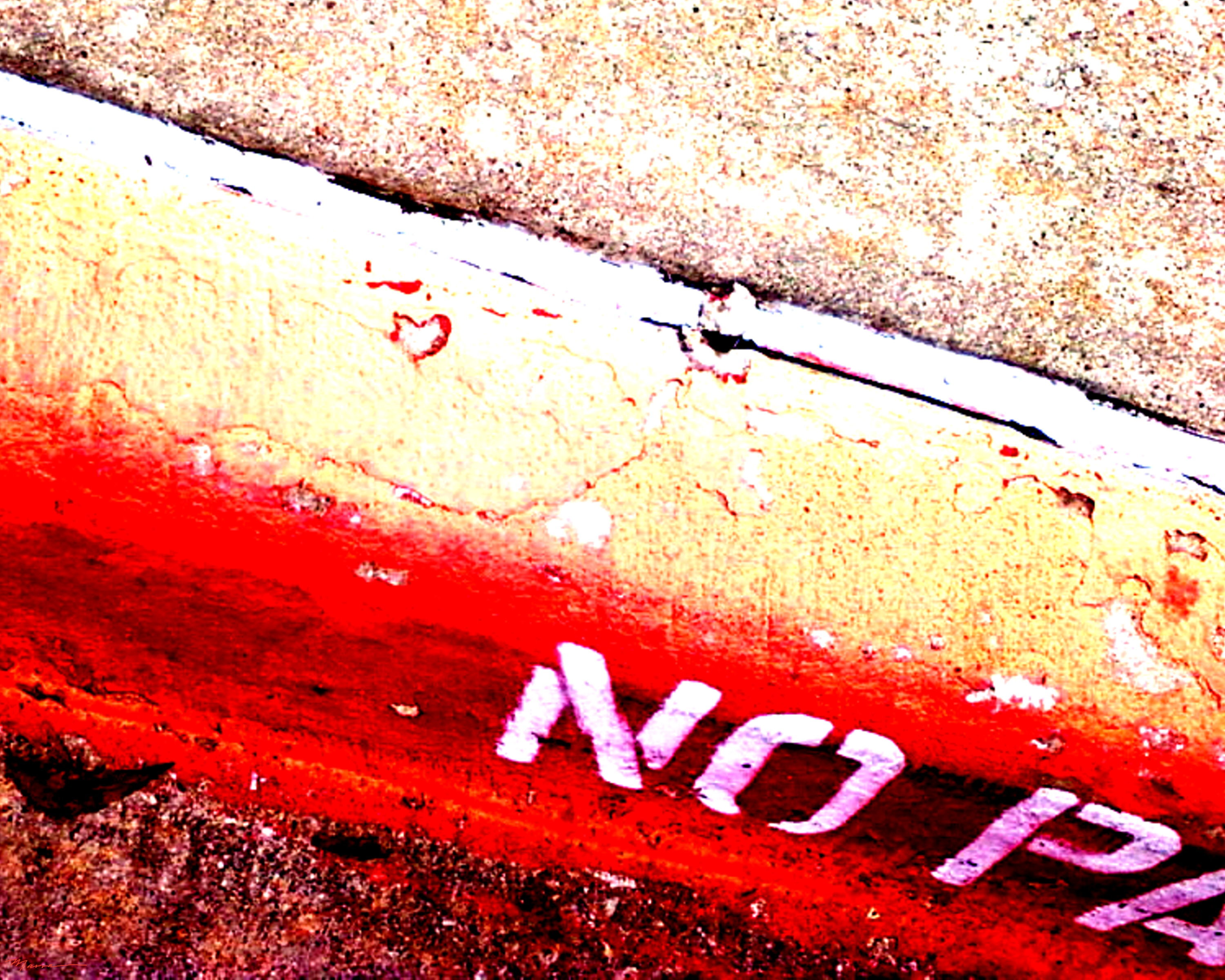NO PARKING Heart