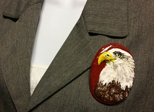 Eagle Brooch, Polymer Clay Eagle Pin