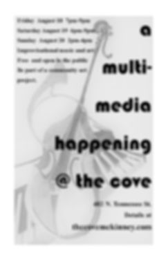 A Happening, Artists Gathering, The Cove Gallery, Improvisational Music and Art