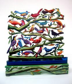 BIRDS MENORAH Menorah