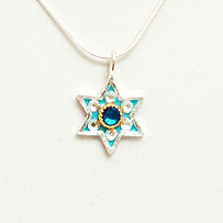 edther shahaf, esther shahaf necklace, judaica necklace, kaballah necklave, wholesale jewelry,