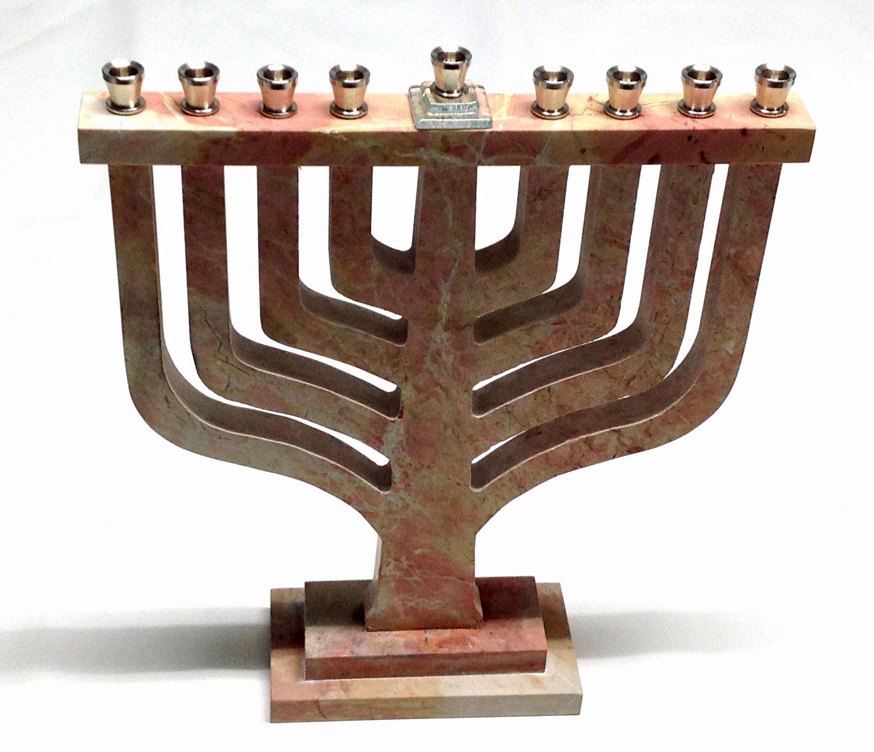 Jerusalem Stone Menorah