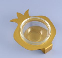 Gold Honey Dish