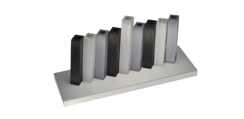 Aluminum Kinetic Menora