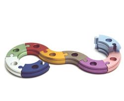 Round Puzzle Menorah