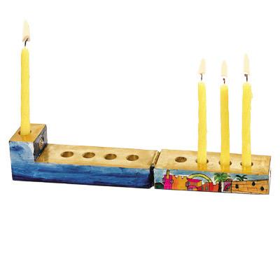 Wooden Menorah