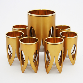Lotus Kiddush Set