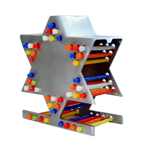 Aluminum nerot Menorah