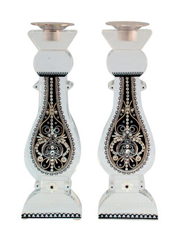 Tall Crystal Candlesticks