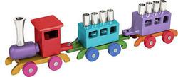 Aluminum Train Menorah