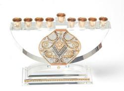Crystal Decorated Menorah