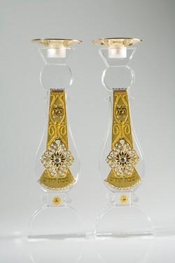 Tall Crystal Candlesticks