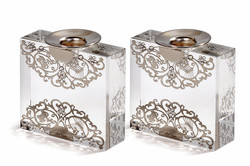 SQUARE CRYSTAL CANDLESTICKS