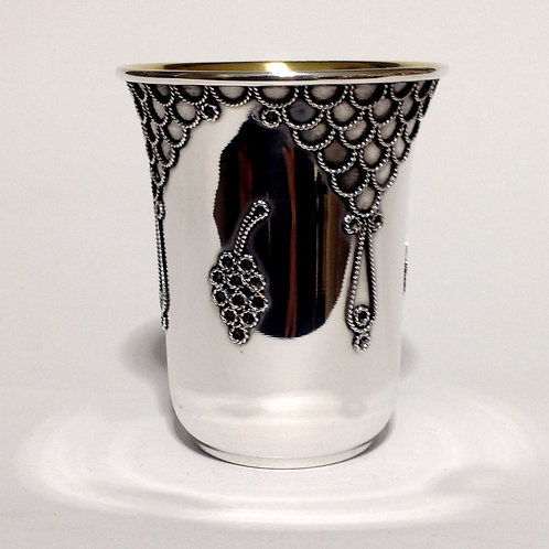 Fligree Hand made Kiddush Cup