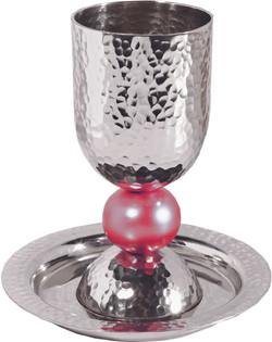 Aluminum Hammerred Kiddush Cup