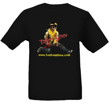 T-shirt Tonton Ninou pour adulte noir