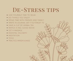De-Stress Tips