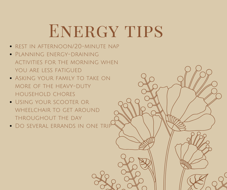 Energy Tips for MS
