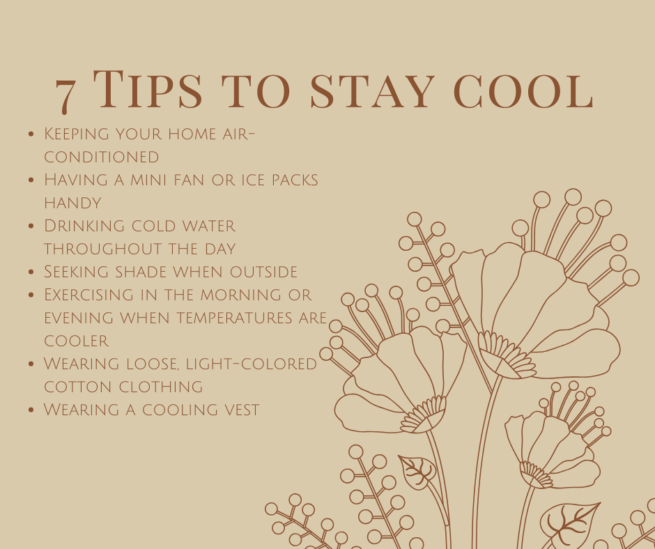 7 Tips To Stay Cool For MS