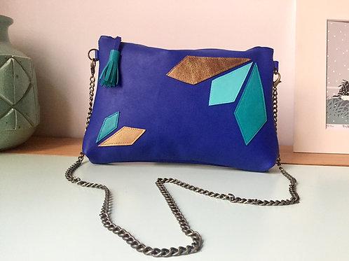 Pochette Arya Bleu électrique