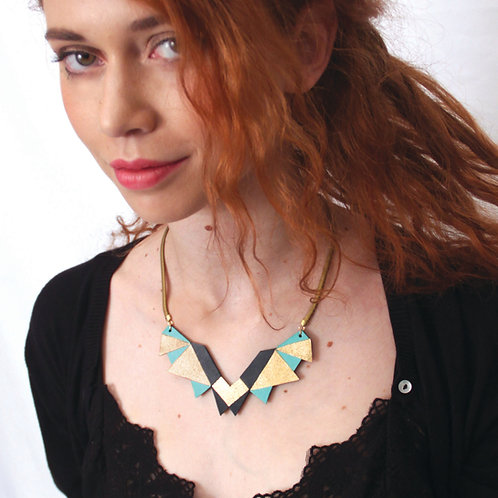 Collier Flo (turquoise)