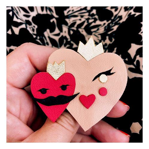 Broche Couple de Coeurs