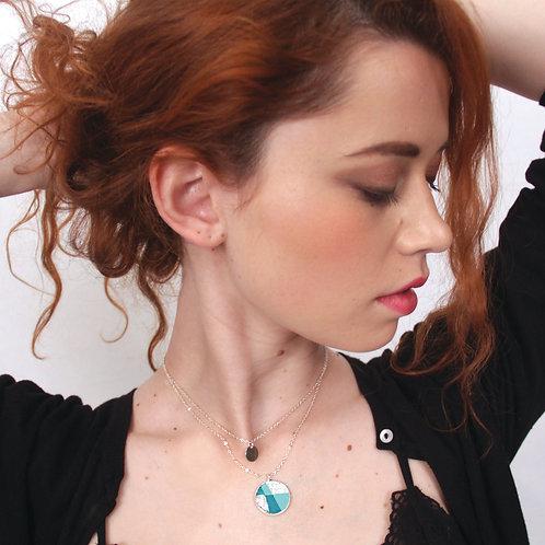 Collier Del - Argent  (turquoise)